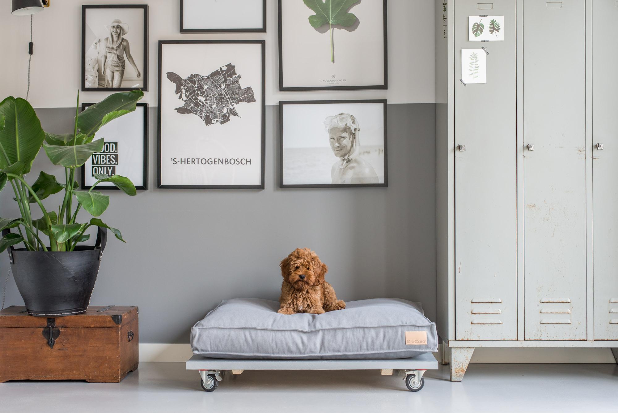Steigerhouten hondenmand zelf maken remade with love for Bouwtekening hoekbank